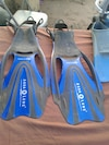 blue and grey Aqua lung flippers