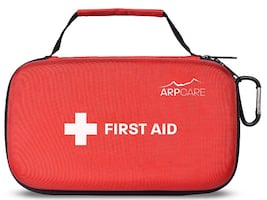 Compact First Aid Medical Kit - 121 Piece - Hard Carry Case Perfect