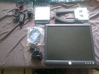 Computer Monitor with stand and all wires