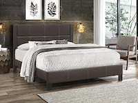 New in Box Brown Leatherette Queen Bed ( Colours Available)