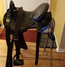 Endurance saddle, size 16, made by National Bridle