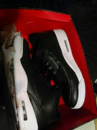 black-and-white low-top sneakers with box