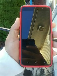 black LG android smartphone with red case North Haven, 06473