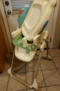baby's white and green highchair Springfield, 97478