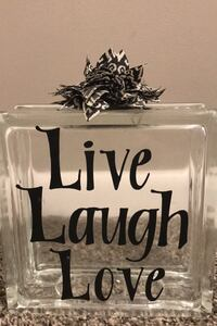 Live, Laugh, Love Glass block Omaha, 68124