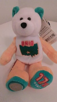 Adorably Cute Teddy Bear 17th State-Ohio-Quarter! Chicago