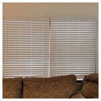 """2 Faux White Wood Blinds, 38.5"""" x 63"""" Seaford, 11783"""
