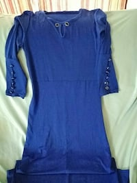 blue crew-neck keyhole 3/4 sleeved maxi dress Summerville, 29483