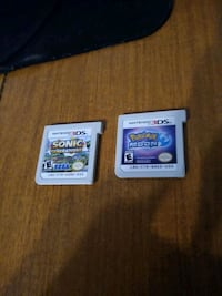3DS Pokémon Moon and Sonic Generations - $15 each Lititz, 17543