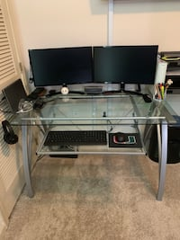 "48""W Glass Computer Desk Fairfax, 22030"