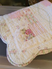 Quilted Pink, white, and green floral pillow sham Toronto, M1P 4V9