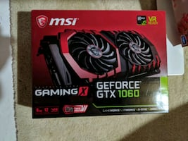 MSI 1060 6GB Graphics Card