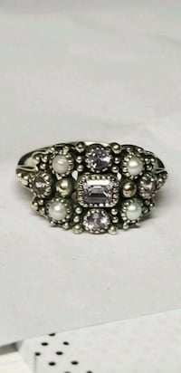 Antique Amethyst and Pearl ring size 6 TEMPLE TERR, 33617