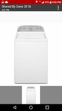 white top-load clothes washer Dunbar, 25064