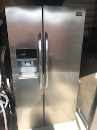 stainless steel side-by-side refrigerator with dispenser Laredo, 78041