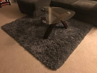 Gray shag rug (table not for sale) Los Angeles, 90045