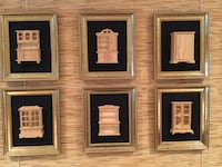 Doll furniture collection framed