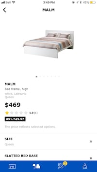 Queen bed frame 3130 km