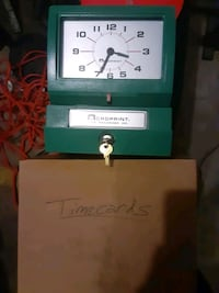 Heavy duty employee time clock/cards