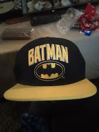 black and yellow Batman fitted cap Park Hills, 63601