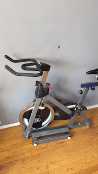 Black and gray stationary bike Toronto, M6A