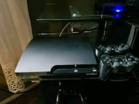 black Sony PS3 slim console with controller Holtsville, 11742