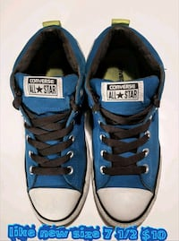 pair of blue Converse All-Star low-tops Las Vegas, 89169