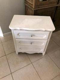 Two drawer white side table  West Palm Beach, 33401