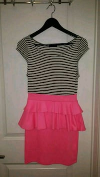 women's pink and white striped dress  Toronto