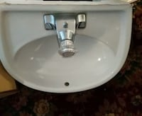 white ceramic sink with stainless steel faucet South Amboy, 08879