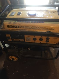 yellow and black Champion portable generator