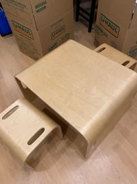 Solid wood child's desk/table with chairs Nanaimo, V9T