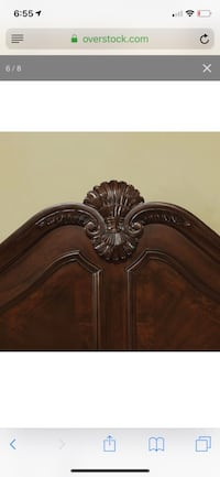 Used Beautiful Solid Wood King Bed Frame Minor Scrapes On