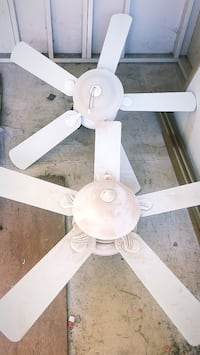 white 5-bladed ceiling fan Chino Hills, 91709