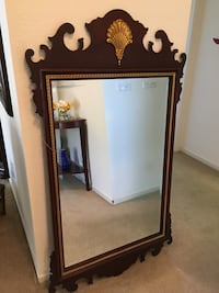Traditional mahogany mirror