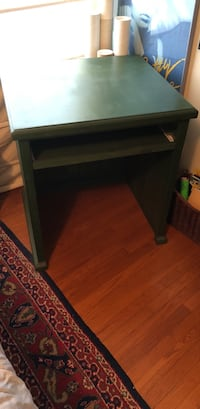 Unique sturdy wood desk/table - like new!