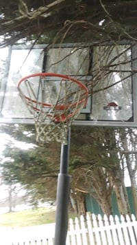 red and black basketball hoop Bowleys Quarters