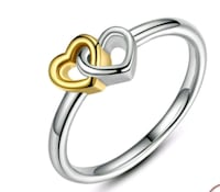 S925 Dainty heart ring size 8 Hedgesville