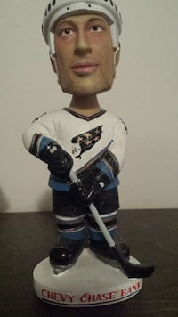 Chris Simon Washington Capitals bobble head Chantilly, 20151