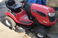 Mower with cart runs good cheap price you pick up Jackson, 08527