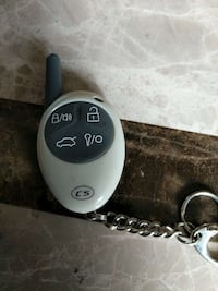 black and white car fob