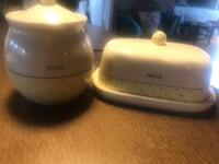 Butter and sugar bowl brand new never uses  372 mi