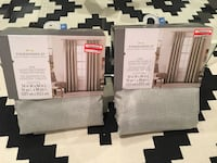 Grey textured solid curtains never used. Size and dimensions on picture Toronto, M6N 3W5