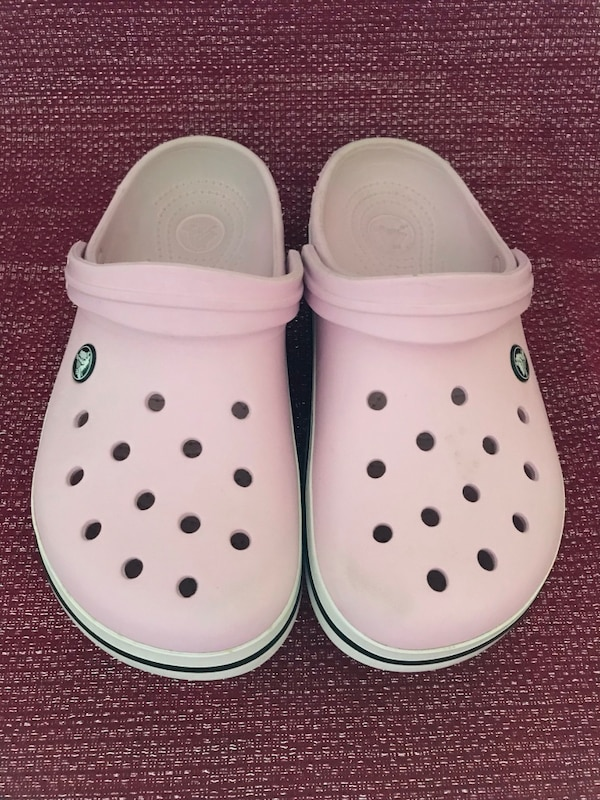 6b032afb4 Used CROCS hot pink clogs sandals shoes ankle strap slides women s size 9  for sale in Alexandria - letgo
