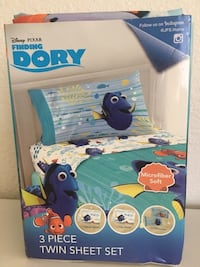 blue and white Finding Dory themed bed frame San Diego, 92128