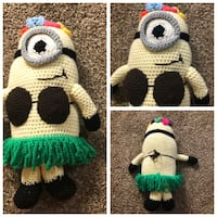 """YES an adorable crochet minion NEW. 18"""" T x 9"""" Wide. Great gift!!! Laguna Hills, 92653"""