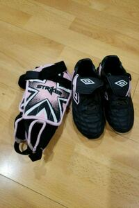 Childrens Soccer cleats & shin guards