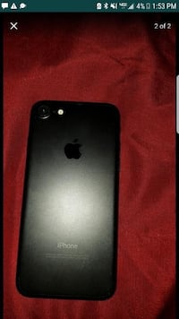 Black iphone 7 with case (parts only)