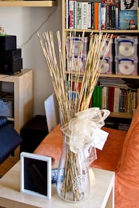 IKEA vase with bamboo straws Fort Lauderdale