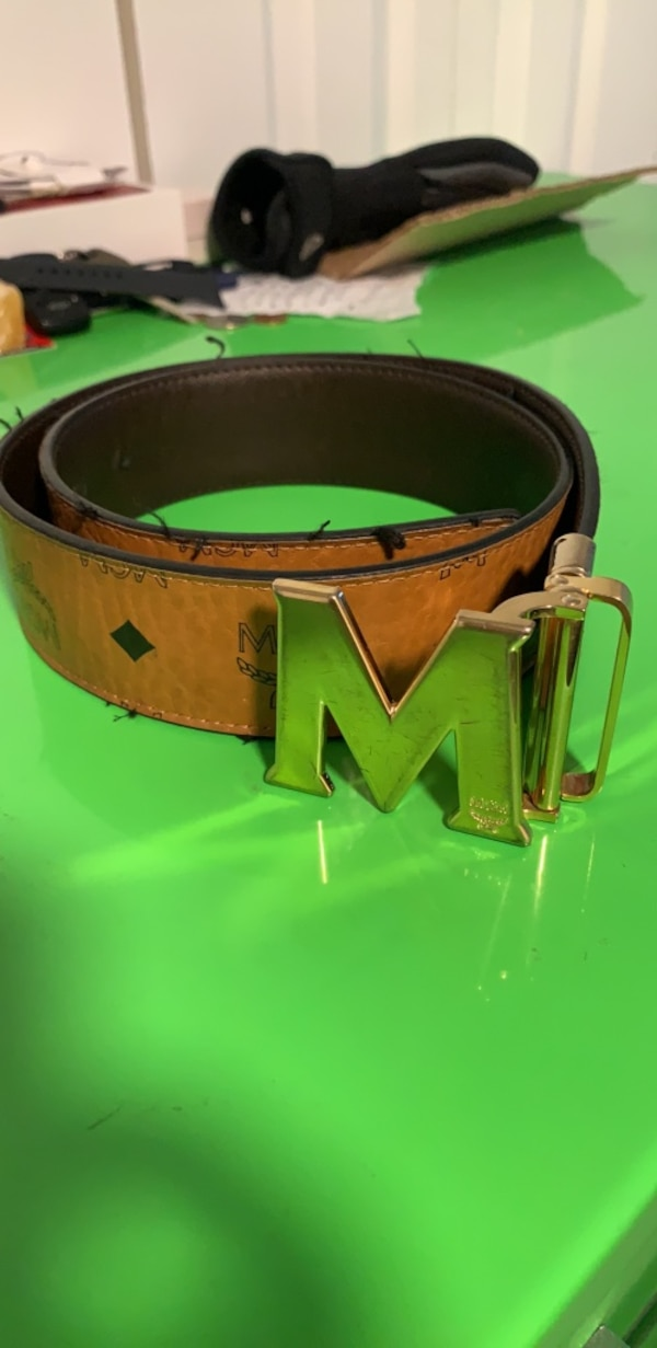 cd75199609dc81 Used green and brown leather belt for sale in Webster - letgo